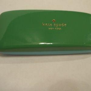 Kate Spade New York Eyeglass Case Green Aqua Decor